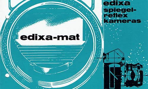 Edixa-mat-Reflex Spiegelreflexkamera Prospekt  als PDF zum Download