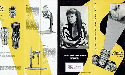 Edixa Reflex Kamera Prospekt 1958 als PDF zum Download