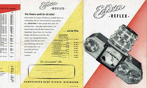 Prospekt Edixa Reflex 50er Jahre als PDF zum Download